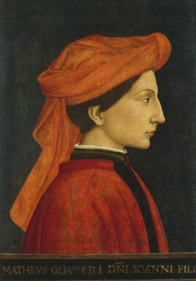 Доменико Венециано. Портрет Маттео Оливьери