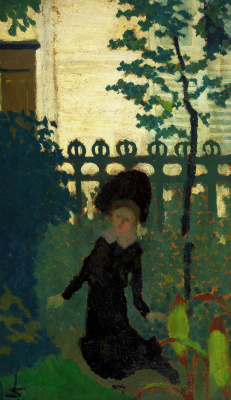 Жан Эдуар Вюйар. Девушка в саду