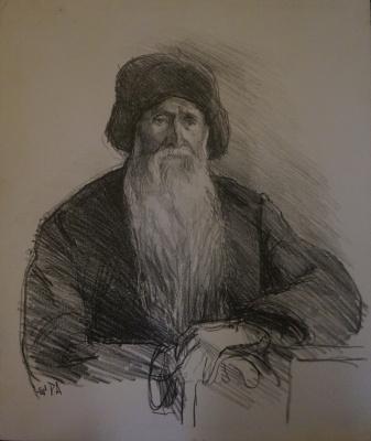 Alexandra Antonovna Gladun. Portrait of an old man