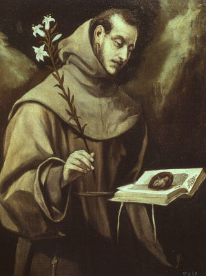 Domenico Theotokopoulos (El Greco). Saint Anthony Of Padua