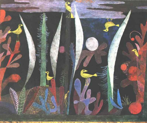 Paul Klee. Landscape with yellow birds