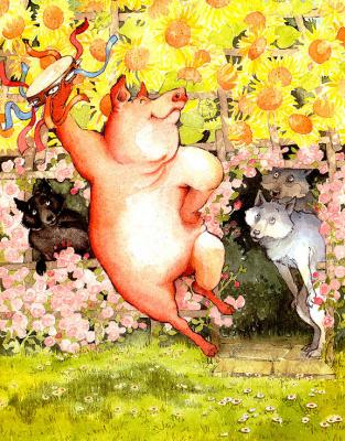 Helen Ochenburu. Three little wolf and the big bad pig 5