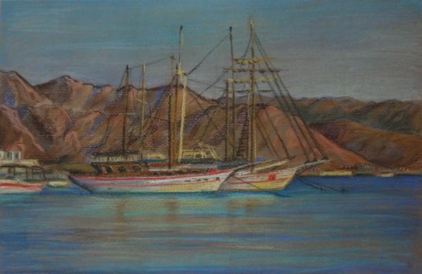 Irina Soboleva. The harbour in Eilat