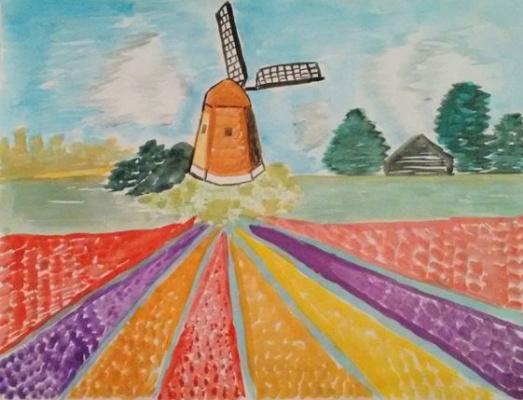 Sokolova Irina.. Holland, Tulip fields.