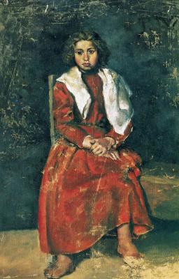 Пабло Пикассо. Босоногая девочка