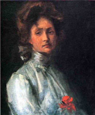 William Merritt Chase. Portrait of a young woman