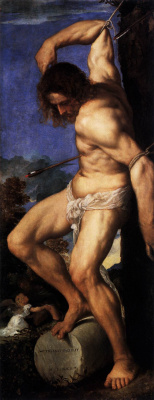 Titian Vecelli. The Altar Of Averoldi. Snippet: Saint Sebastian