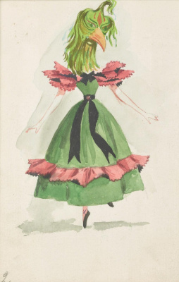 """Dorothea Tunning. Lady birds. Costume design for the ballet """"Night shadow"""""""