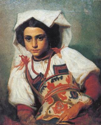 Павел Петрович Чистяков. Джованнина. Портрет десятилетней римлянки