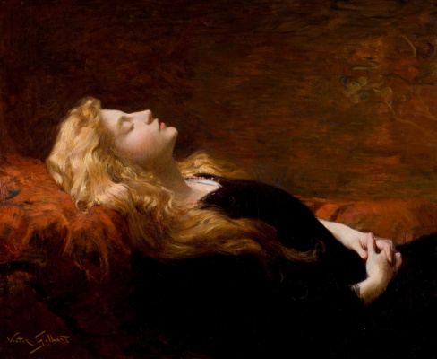 Victor Gabriel Gilbert. Sleeping beauty