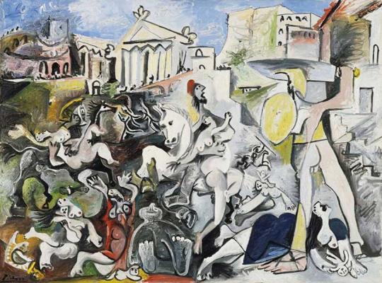 Pablo Picasso. The rape of the Sabine women