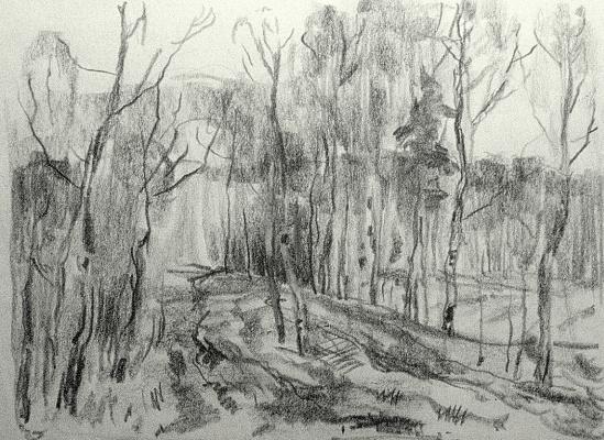 Oleg Borisovich Zakharov. Spring sketch.