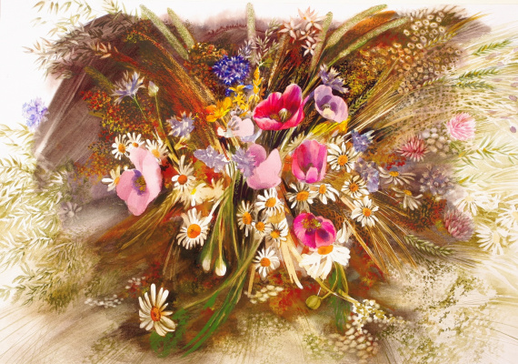 "Yuri Alekseevich Golenkov. ""Poppy, wildflowers"""