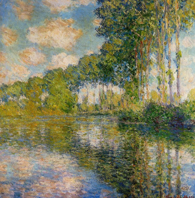 Claude Monet. Poplars on Epte