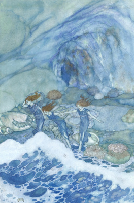 Edmund Dulac. And ye that on the sands with printls foot do chase the ebbing Neptune. 1908