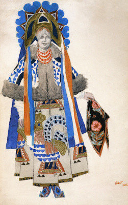 "Lev Samoilovich Bakst (Leon Bakst). Costume design for the vaudeville ""Moscow"""