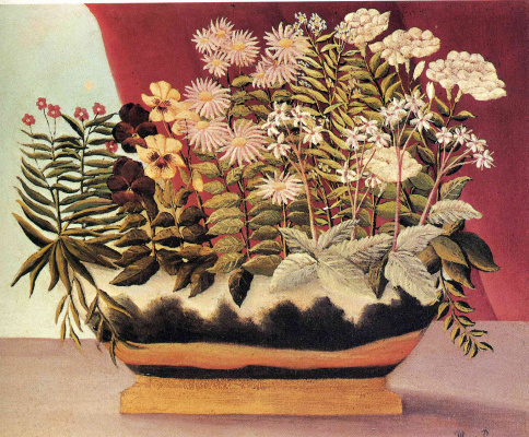 Henri Rousseau. Flowers in pot