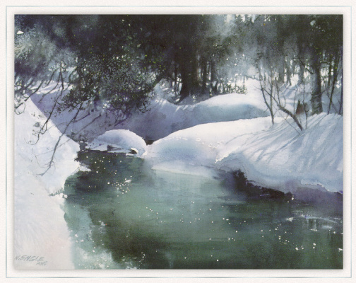 Нита Энгл. Зимний ручей