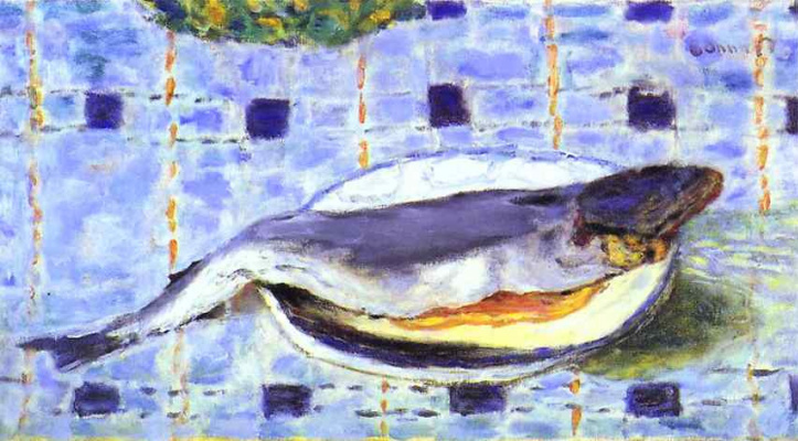 Pierre Bonnard. The fish on the plate