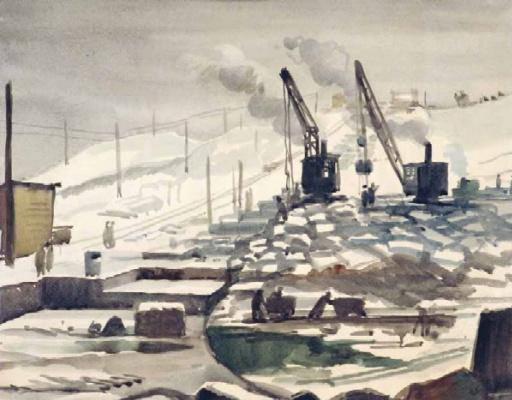 Антонина Алексеевна Ромодановская. Строительство плотины на Алтае