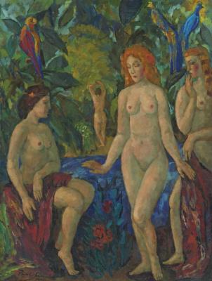 Boris Izrailevich Anisfeld. Tribute To Gauguin. 1945