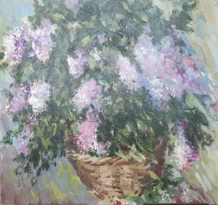 David Pilko. Basket of flowers