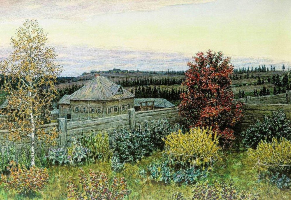 Apollinarius Mikhailovich Vasnetsov. The view from the dining room window