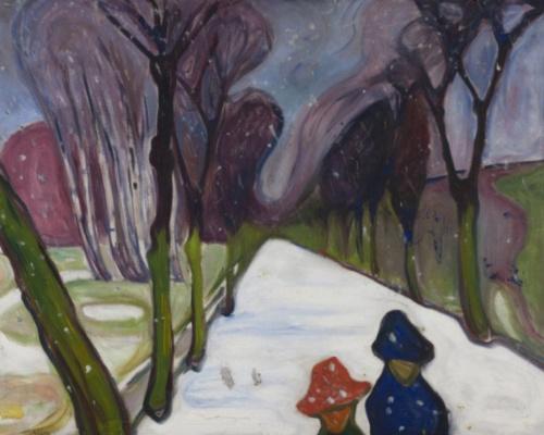 Edvard Munch. The first snow