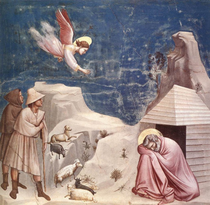 Giotto di Bondone. The dream of Joachim (Scenes of the life of St. Joachim)