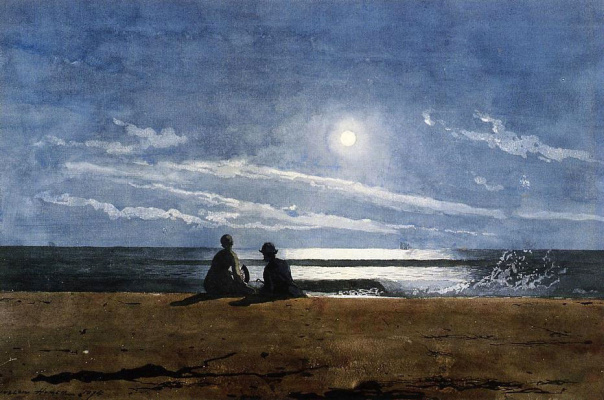 Winslow Homer. Moonlight