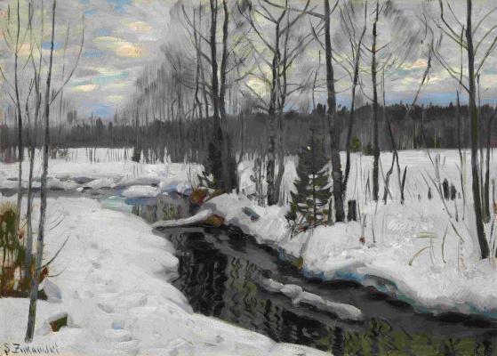 Stanislav Yulianovich Zhukovsky. The forest in winter