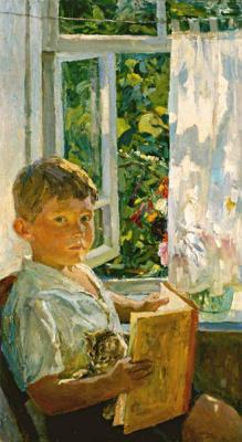 Arkady Alexandrovich Plastov. At the window (Portrait of a grandson)