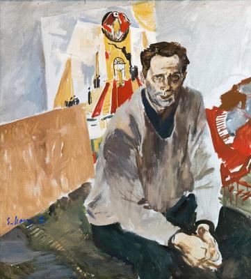 Evsey Evseevich Moiseenko. Portrait of artist N.N. Zolotarev.