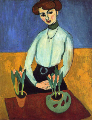 Henri Matisse. Girl with tulips