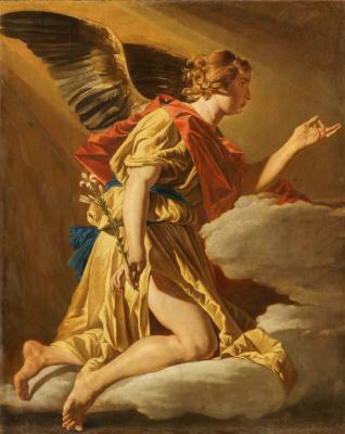 Matthias Stomer. The Annunciation. Archangel Gabriel