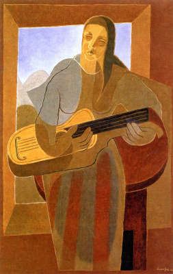 Juan Gris. Woman with guitar