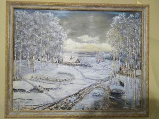 Vladimir Mikhailovich Korovin. Winter road