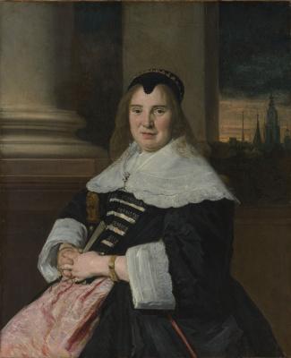 France Hals. Portrait of a woman