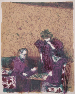 Jean Edouard Vuillard. A Game of Checkers