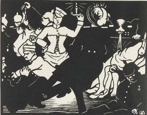 Felix Vallotton. Orgy in time of war