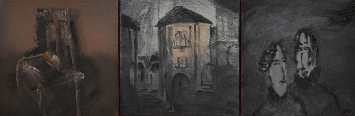 """Елена Бабинец. Триптих """"123 г. памяти Vincent Willem van Gogh"""""""
