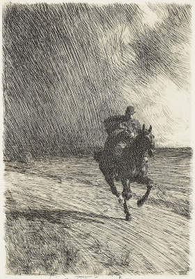 Anders Zorn. The storm