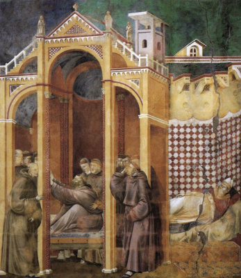 Giotto di Bondone. Appearance to Brother Augustine and Bishop Guido of Arezzo. The Legend of Saint Francis