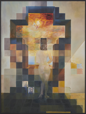 Salvador Dali. Gala Contemplating the Mediterranean Sea which at Twenty Meters Becomes the Portrait of Abraham Lincoln-Homage to Rothko (Second Version)