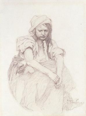 Alphonse Mucha. Contemplation