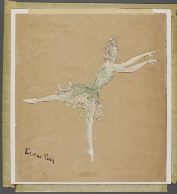 Costume design for Anna Pavlova