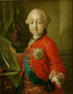 Антон Павлович Лосенко. Портрет императора Павла I в детстве