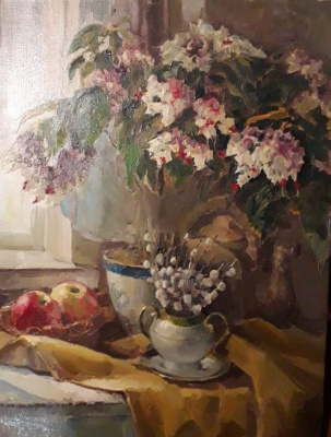 Лариса Михайловна Костылева-Тамсон (Прокопьева). Still life with willow
