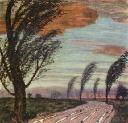 Franz von Stuck. Stormy landscape