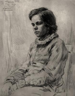 Федор Борисович Федоров. Portrait of a girl